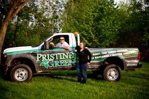 Pristine Green propane truck