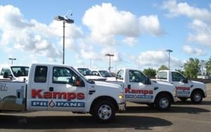 Kamps propane pickup trucks