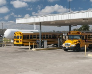 Alvin ISD propane buses and station