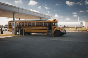 Alvin ISD propane school bus