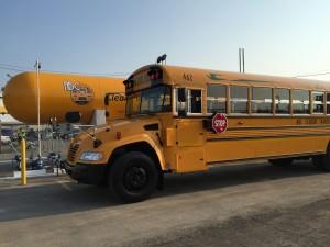 ABC propane school bus