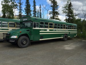 (Denali National Park, Alaska) Blue Bird Propane Vision Bus