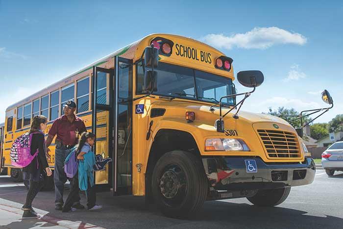 Blue Bird Type C clean fuel school bus