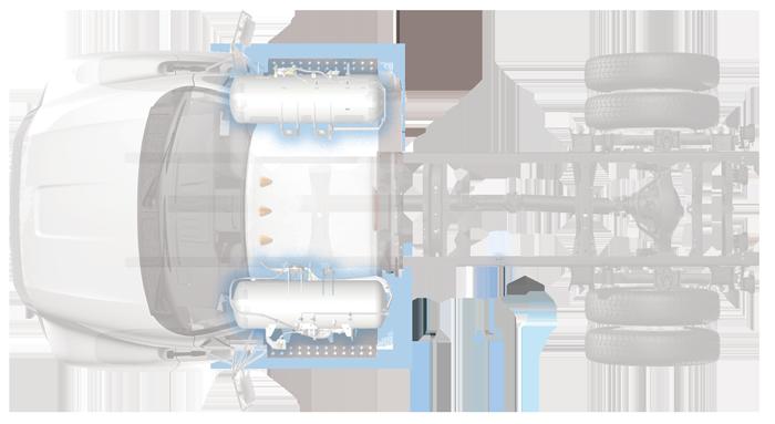 Ford F750 dual tank