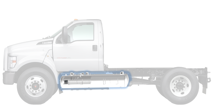 Ford F750 clean fuel vehicle