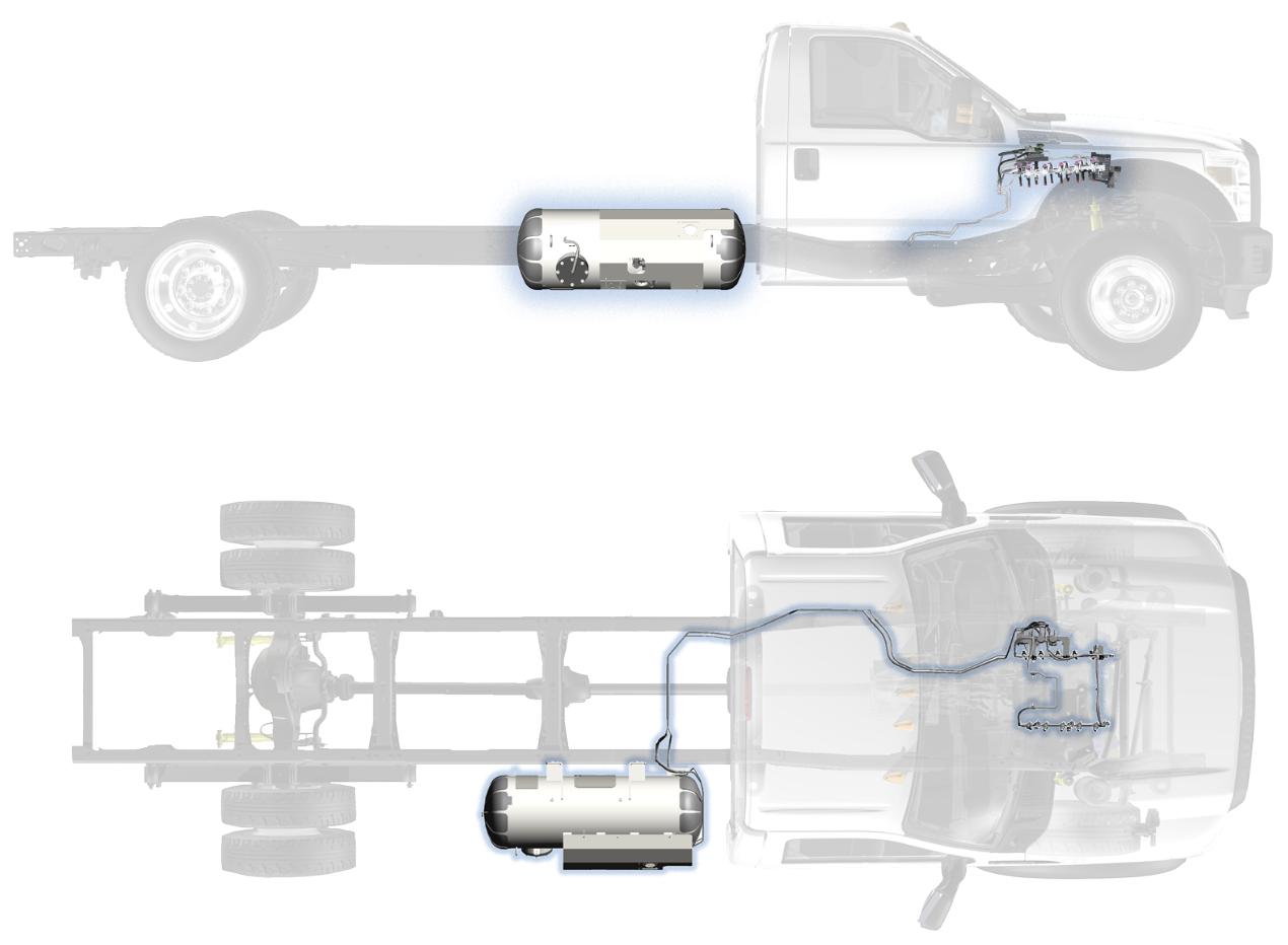 Ford F-450 / F-550 Cutaway Fuel Tank