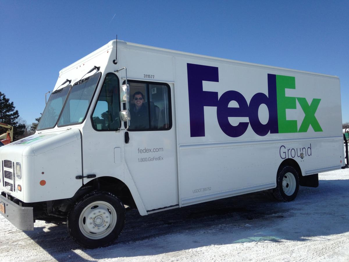 roush cleantech unveils first fedex ground fleet vehicle fueled by propane autogas roush cleantech. Black Bedroom Furniture Sets. Home Design Ideas