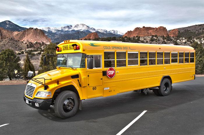 Blue Bird Bus >> District 11 Testing Propane-Powered School Bus - ROUSH ...